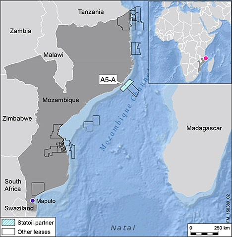 Statoil Quits Negotiations over Angoche Area A5-A Block, Offshore Mozambique