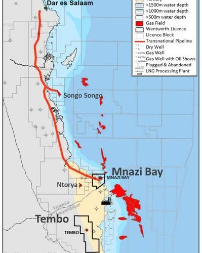 Wentworth Resources to relinquish Tembo Block To Focus on Mnazi Bay Asset