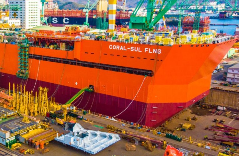 ENI LAUNCH MOZAMBIQUE'S SOUTH CORAL FLNG HULL