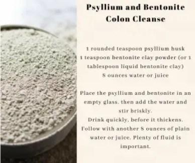 bentonite clay colon cleanse