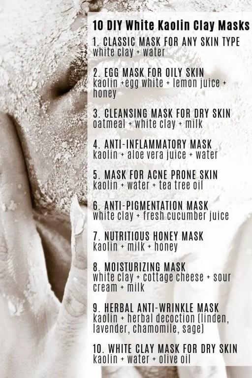 DIY White Clay Masks