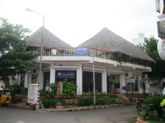 Conical roofs of a quaint restaurant