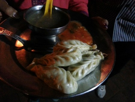 Nepalese momos in Calcuttan streets