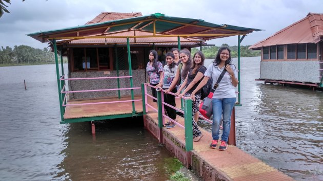 After the rafting experience, we relax on a shack by the catchment area of our village