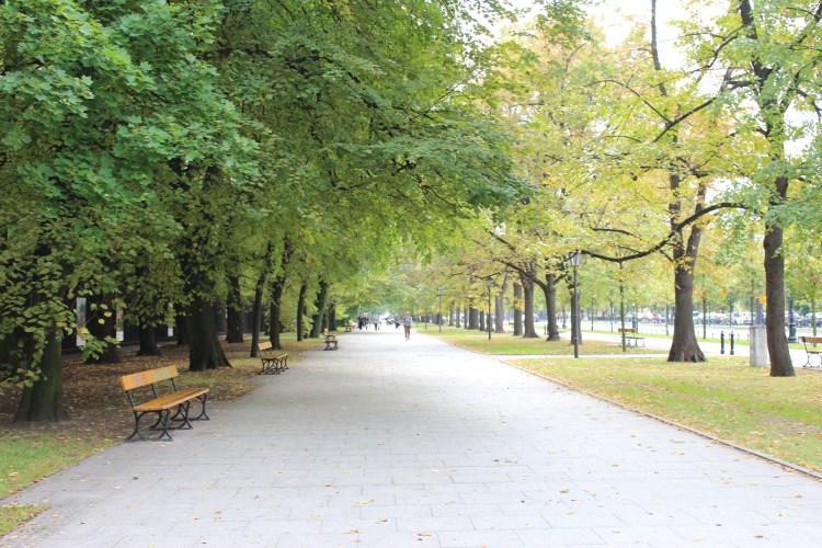 No dearth of walking spaces in Warschawa
