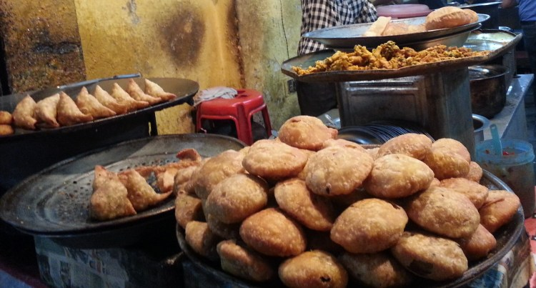 Deep fried street food - carboloading for the run! ;-)