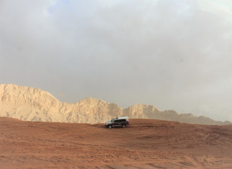 Dune bashing in the undulating Meliha Desert