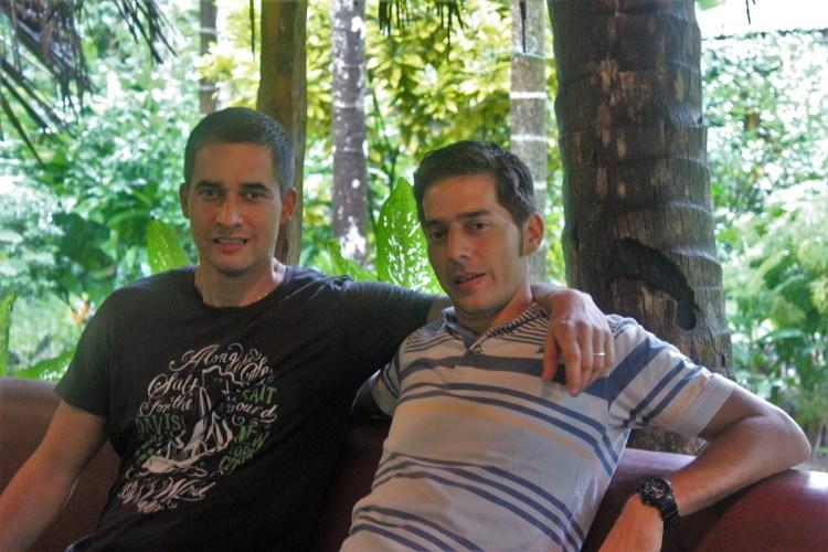 The Malkarnekar brothers - Ashok (right) runs the property