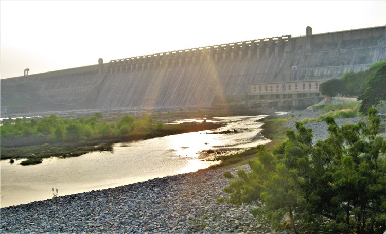 Nagarjuna Sagar Dam - It takes a mighty structure to stop a river as mighty as The Krishna.
