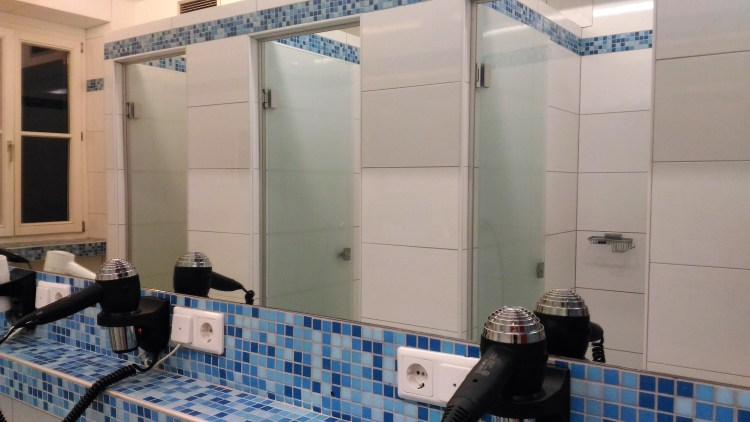 The shared bathrooms are not only yours! Leave things dry after you're done.