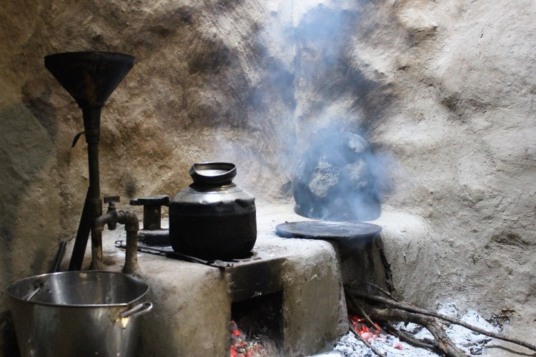 The typical kitchen in Purushwadi homes.