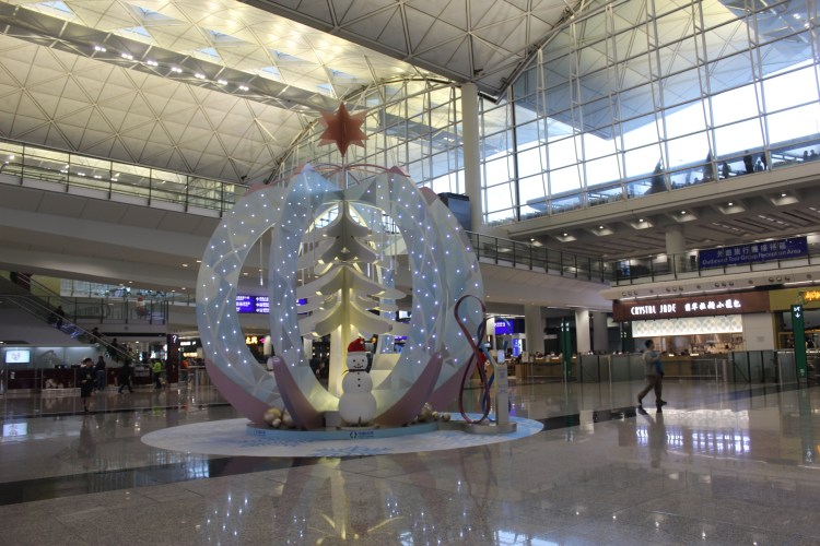 Interiors of the Hong Kong International Airport in Lantau