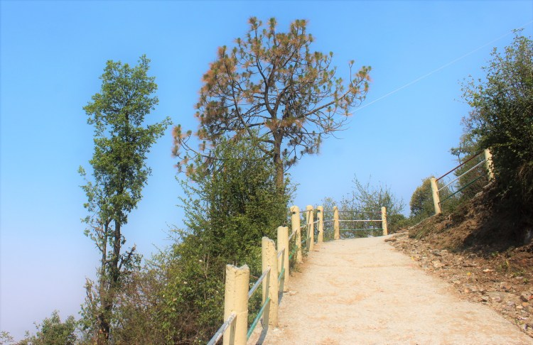 The easy path to Surkanda Devi trek (not what I followed though ;-) )