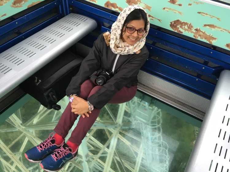 I shiver inside my 360-degree crystal cabin gondola en route to Ngong Ping