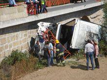 Queda de autocarro na Ponte Pedrinha         provocou 12 feridos