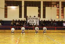 Equipa de futsal de Valhelhas com protesto         inédito