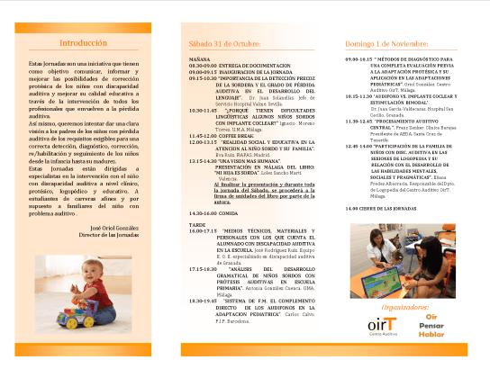 Jornadas de actualización audiológica pediátrica OirT, MálagaMalaga