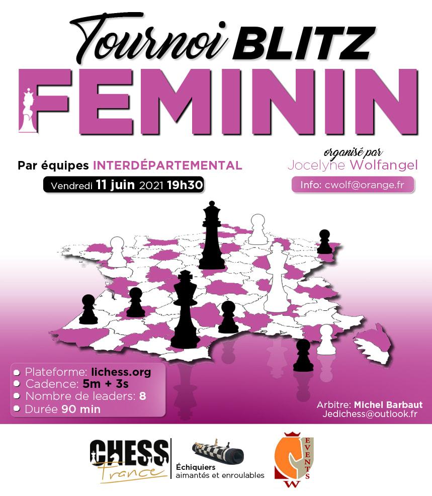 TOURNOI FEMININ EN LIGNE LE 11 JUIN