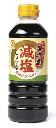 Photo Description: another soy sauce with a golden cap, the Marukin premium koikuchi soy sauce bottle is plastic and resembles a lot of the big soy sauce producers packaging.