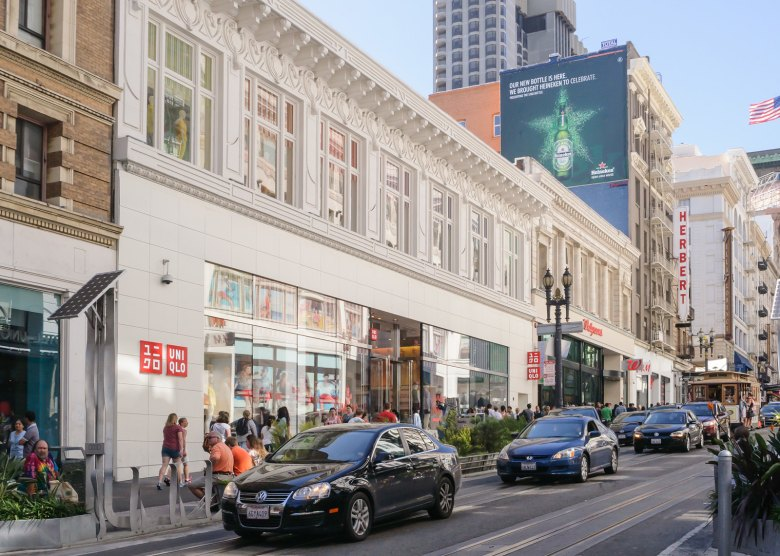 "Photo Description: the UNIQLO San Francisco location. This is the location in Union Square where I made my first purchase which also answered ""is Uniqlo good quality."" Years later, I can say ""yes, it is."""