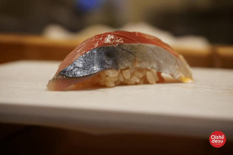 Photo Description: of nigiri sushi.