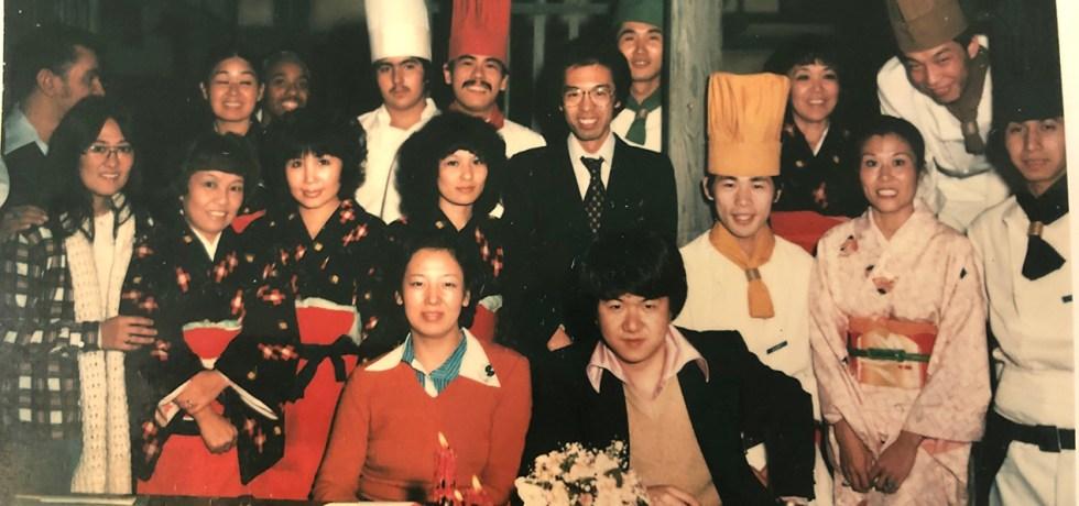 Group shot of the staff of Go Jo Japanese Hibachi restaurant in Kansas City