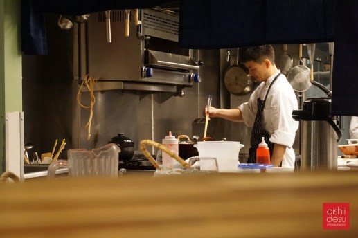 Chef Tetsuya from the counter seating