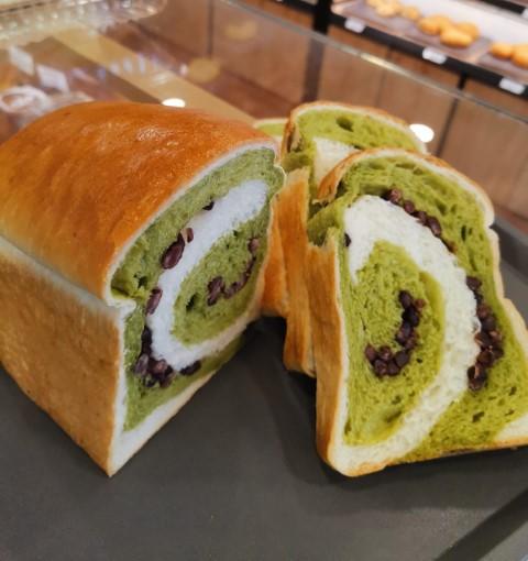 oishipan sg - matcha red bean loaf