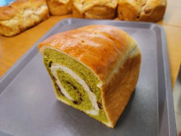 Matcha Red Bean Loaf - Half Loaf