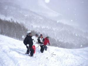 新雪30cmエキスパート40°に挑戦