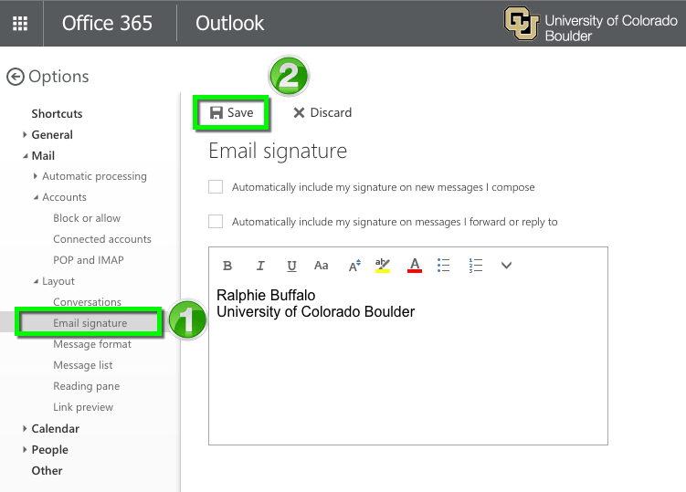 how to change signature in outlook webmail