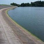 雄蛇ヶ池ポイントガイド(10)堰堤と水神宮