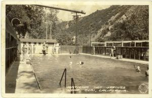 Matilija Hot Springs swimming pool in the 1950s.