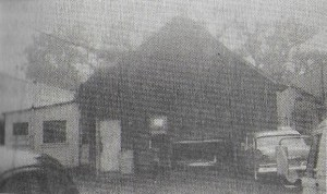 Rear view of Ojai Gift store with outhouse as it looked in the 1950s. (photo courtesy of Alan Rains)