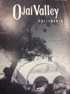 "No publication date is printed on or in this brochure, but ""APR 21 1958"" was stamped on the front cover by the VENTURA COUNTY FREE LIBRARY. This brochure is presently in the Ojai Valley Museum's research library."