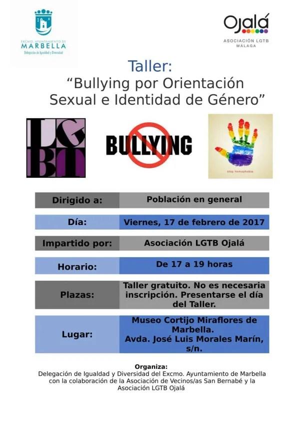 Taller sobre bullying por orientación sexual e identidad de género el 17 de febrero en Marbella