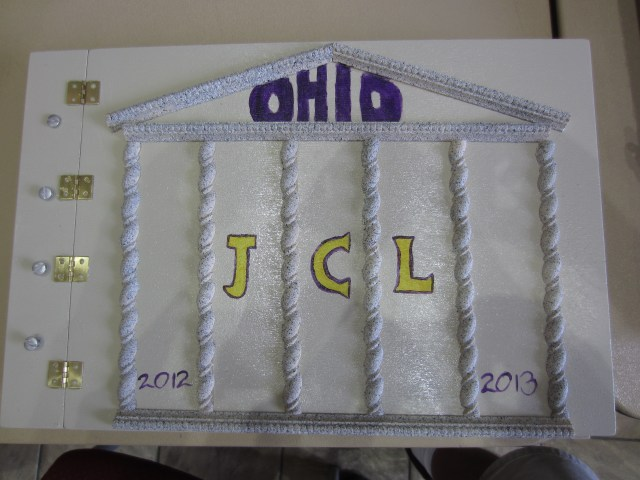 This is the cover of OH's scrapbook by Historian Becky Steffen.