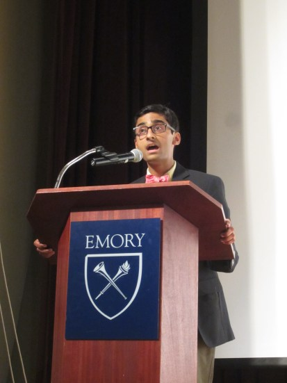 Narayan Sundararajan (Shaker) delivers his opening speech to be elected NJCL 2nd VP at NomComm