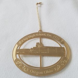 Commemorative Gold Ornament - Clay High School