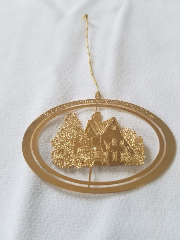 Commemorative Gold Ornament - Hawthorne House of 7 Gables