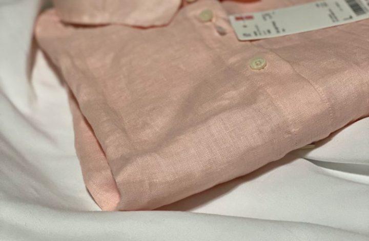 リネンシャツピンク