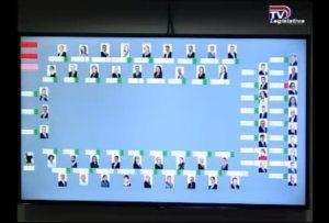 El sistema de la Asamblea Legislativa mostró que todos los diputados presentes, menos Ligia Fallas, votaron a favor.