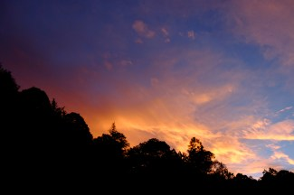 Colorful sky at dawn, Sierra Gorda, Queretaro, Mexico. January 2016. ©Eduardo Mendoza.