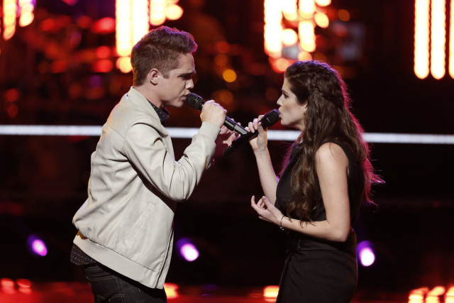 The Voice 10 Recap Battle Rounds Part 4 -- Pictured: (l-r) Trey ODell, Brittany Kennell -- (Photo by: Tyler Golden/NBC)