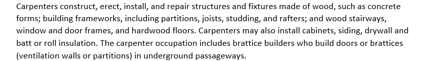 Carpenter Tasks