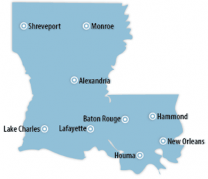 Louisiana Locations for Job Training