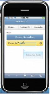 Versión Iphone Moodle 2.2