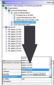 Enlazando archivos de items o subitems con su respectivo contenido