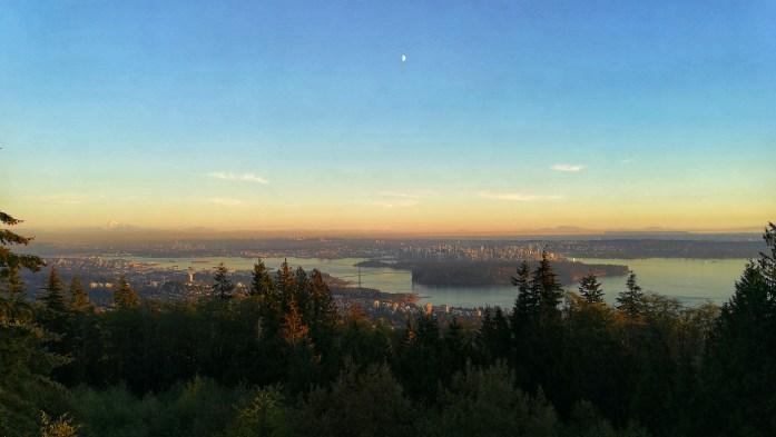Sonnenuntergang über Vancouver