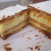 Milhojas con crema pastelera
